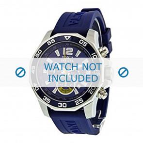 Invicta pulseira de relogio 7431 Borracha Azul 22mm