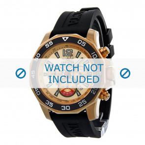 Invicta pulseira de relogio 7432 Borracha Preto 22mm