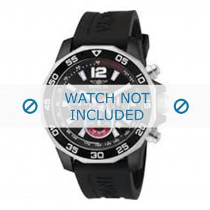 Invicta pulseira de relogio 7433 Borracha Preto 22mm