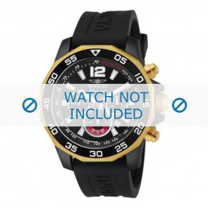 Invicta pulseira de relogio 7434 Borracha Preto 22mm