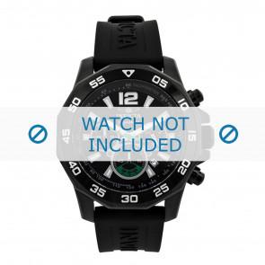 Invicta pulseira de relogio 7436 Borracha Preto 22mm