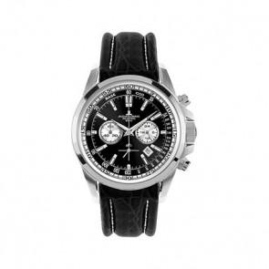 Pulseira de relógio Jacob Jensen 1-1117AN Couro Preto 22mm