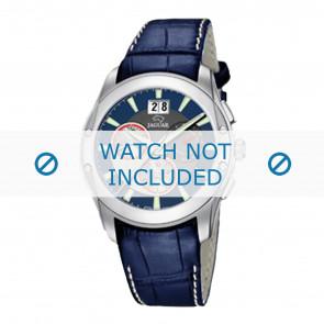 Jaguar pulseira de relogio J615-2 Couro Azul 22mm + costura branca