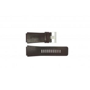 Fossil pulseira de relógio JR-9121 Couro Castanho escuro 26mm