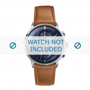 Junghans pulseira de relogio 027/4526.00 Couro Conhaque 21mm + costura padrão
