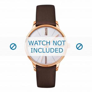 Junghans pulseira de relogio 047/7571.00 Couro Marrom 14mm