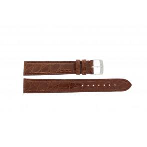 Morellato pulseira de relogio Amadeus XL G.Croc Gl K0518052041CR18 / PMK041AMADEU18 Pele de crocodilo Marrom 18mm + costura padrão