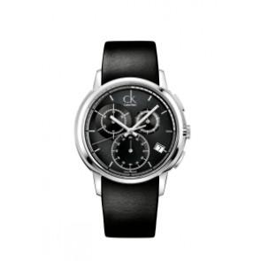 Pulseira de relógio Calvin Klein K1V27102 / K600000091 Couro Preto 22mm