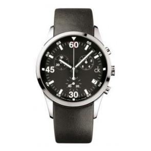 Pulseira de relógio Calvin Klein K2227136 / K600058950 Couro Preto