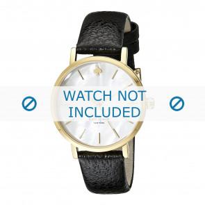 Pulseira de relógio Kate Spade New York 1YRU0010 Couro Preto 16mm