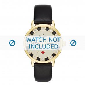 Kate Spade New York pulseira de relogio KSW1052 / METRO Couro Preto