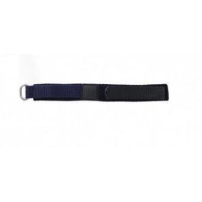 Pulseira de relógio Universal KLITTENBAND 412R Velcro Azul 14mm
