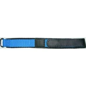 Pulseira de relógio Universal KLITTENBAND 412R Licht Blauw Velcro Azul 14mm