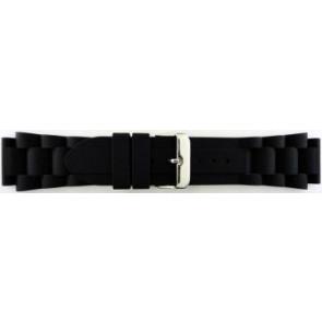 Pulseira de relógio Universal SL101 Silicone Preto 20mm