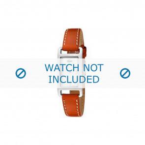 abdc3088583 Lacoste pulseira de relogio 2000310   LC-05-3-14-0006 Couro Laranja 12mm +  costura branca