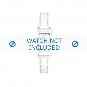 Lacoste pulseira de relogio 2000367 / LC-05-3-19-0066 Couro Branco 12mm + costura branca