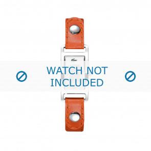 Lacoste pulseira de relogio 2000385 / LC-05-3-14-0009 Couro Laranja 12mm + costura branca
