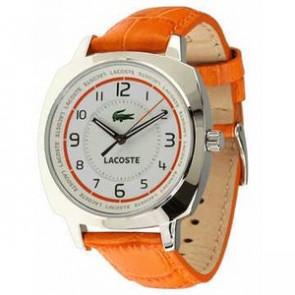 Pulseira de relógio Lacoste 2000600 / LC-47-3-14-2233 Couro Laranja 18mm