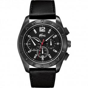 Pulseira de relógio Lacoste 2010609 / LC-53-1-34-2302 Couro Preto 24mm