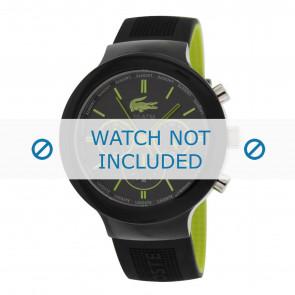 Lacoste pulseira de relogio 2010650 / LC-61-1-29-2347 Borracha Preto 16mm