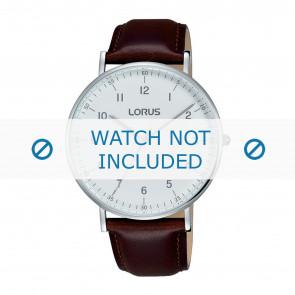 Lorus pulseira de relogio VJ21 X071 / RH895BX9 Couro Marrom 20mm + costura marrom