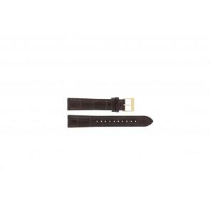 Lorus pulseira de relógio VX32-X383 Couro Castanho 18mm