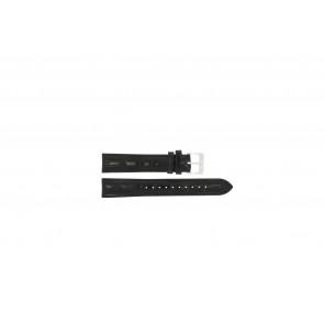 Lorus pulseira de relógio RR033X Couro Preto 18mm