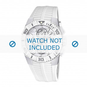 Lotus pulseira de relogio 15778.1 Borracha Branco 26mm