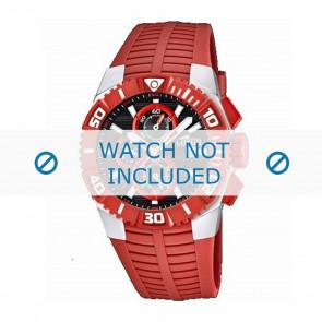 Lotus style pulseira de relogio 15778.2 Borracha / plástico Vermelho