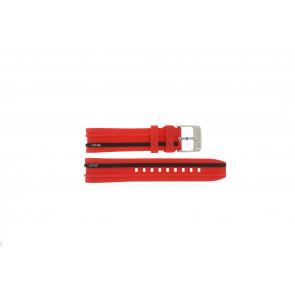Pulseira de relógio Lotus 15881/2 Borracha Vermelho 22mm