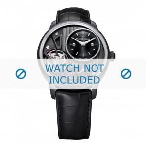 Maurice Lacroix pulseira de relogio MP6118-PVB01-330 Couro Preto + costura preto