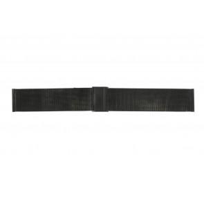 Pulseira de relógio WoW MESH-22.1.5BL Aço Preto 22mm