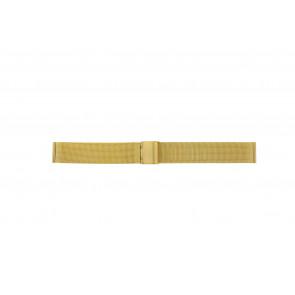 Pulseira de relógio Universal 18.1.5-ST-DB Milanesa Banhado a ouro 18mm