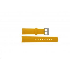 Nautica pulseira de relógio 31507G Borracha Amarelo 22mm