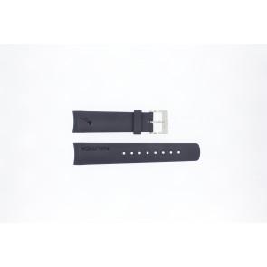 Pulseira de relógio Nautica A18640G / A30004G / A12627G / A12627G Borracha Azul 22mm
