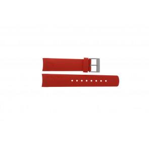 Nautica pulseira de relogio A18639G / A09902 / A37508G / N19524 / A13548G / A36003 / A13015 / N14611G Borracha Vermelho 22mm