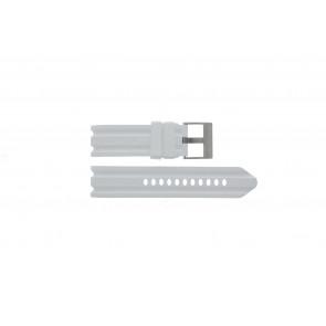 Nautica pulseira de relógio A15567G Borracha Branco 24mm