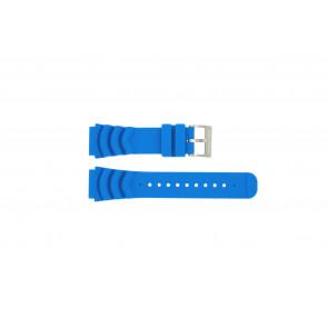 Nautica pulseira de relógio A18631 Borracha Azul claro 22mm