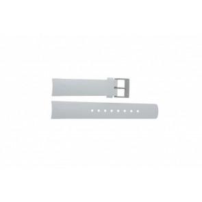 Nautica pulseira de relógio A31504G / A30005G / A16586G Borracha Branco 22mm
