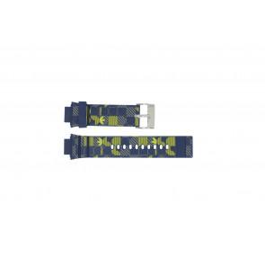 Adidas pulseira de relógio ADH6106 Borracha Azul 16mm