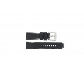Danish Design pulseira de relógio IQ13Q712 Couro Preto 20mm