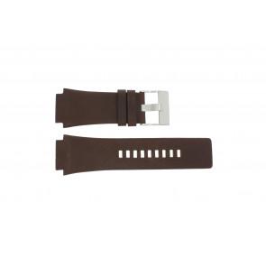 Diesel pulseira de relógio DZ-1132 Couro Castanho 25mm