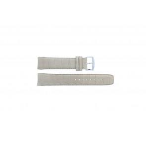 Zodiac pulseira de relogio ZO2702 Couro croco Bege 18mm + costura padrão