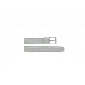 DKNY pulseira de relogio NY8585 Couro Branco + costura branca