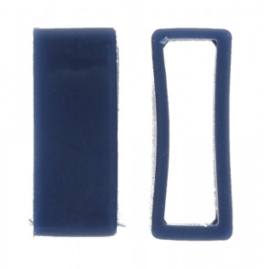 Presilhas para pulseira de relogio borracha azul 24mm