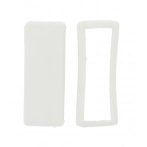 Presilhas para pulseira de relogio borracha branco 16mm