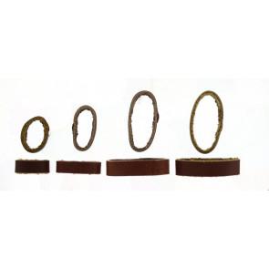 Presilhas para pulseira de relogio couro marrom 10mm