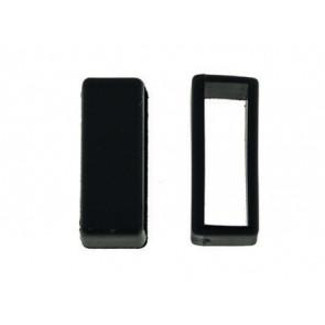 Presilhas para pulseira de relogio borracha negro 18mm