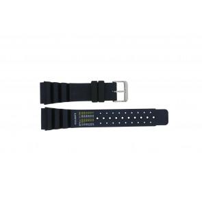 Dutch Forces pulseira de relogio 12750-BL Borracha / plástico Azul 24mm