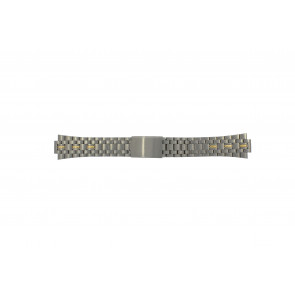 Pulsar pulseira de relogio V657-8000 / PJN010P1 / 70Q6XG Titânio Bicolor 11mm